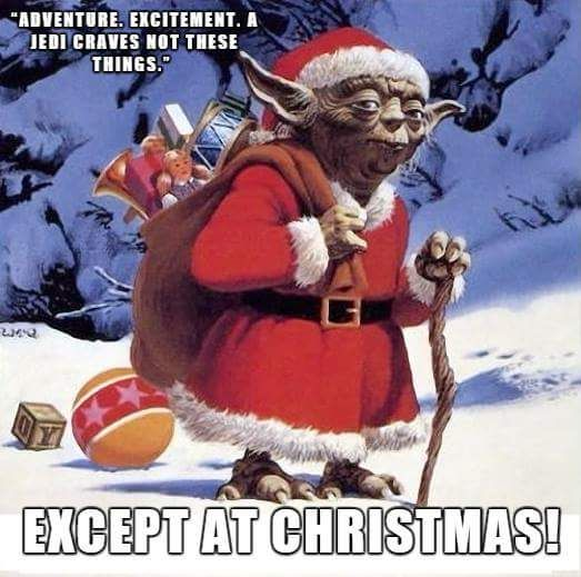 Yoda Looks Rather Dashing As Father Christmas Doesn T He Thanks