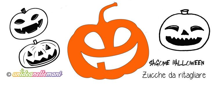 Sagome di zucca da stampare colorare e ritagliare per for Zucca di halloween disegno