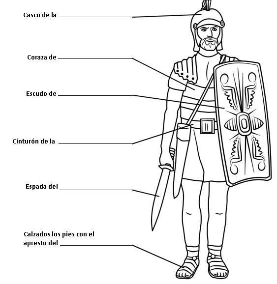 Dibujos Cristianos Para Colorear: Dibujo de Soldado Romano