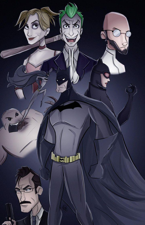 Batman Return to Arkham by JonathanCortright Chibi