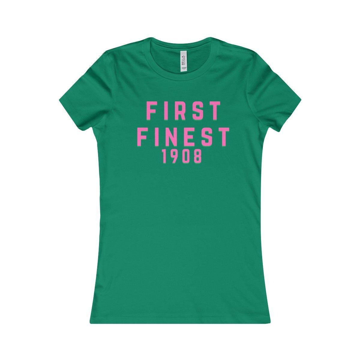 Alpha Kappa Alpha First And Finest 1908 Women's T-Shirt