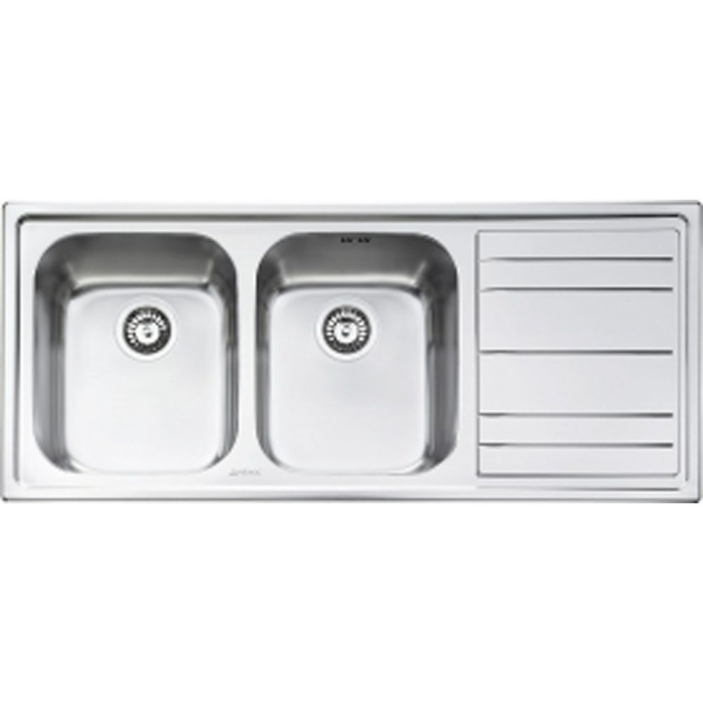 Smeg Rigae 2.0 Bowl Brushed Stainless Steel Kitchen Sink & Waste ...
