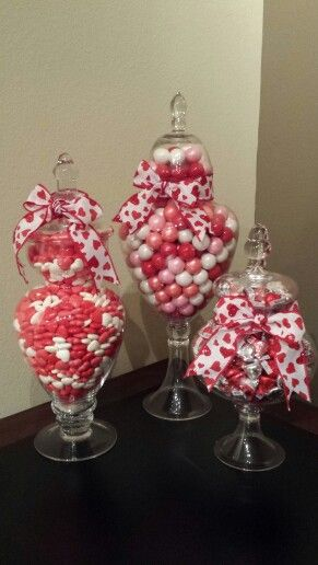 Valentine S Day Apothecary Jars Valentine Centerpieces Valentines Day Decorations Christmas Gifts For Coworkers
