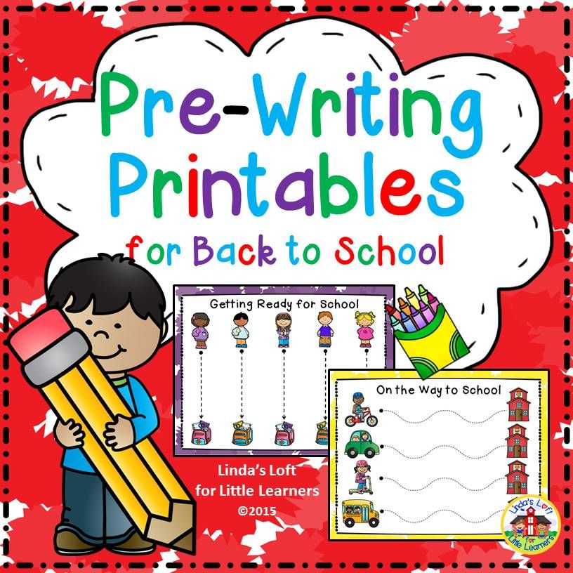 Back to School Pre-Writing Printables Motor skills, Students and - copy pre kindergarten certificate printable