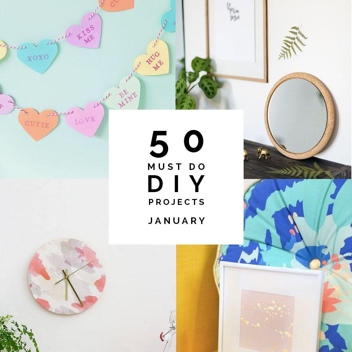 50 идей, которые нужно сделать своими руками за январь |  Падение для DIY
