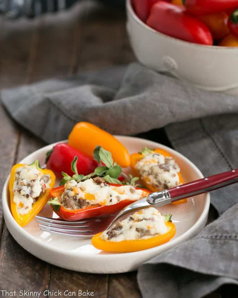 Cream Cheese And Sausage Stuffed Mini Peppers Recipe Stuffed Peppers Stuffed Mini Peppers Impressive Appetizers