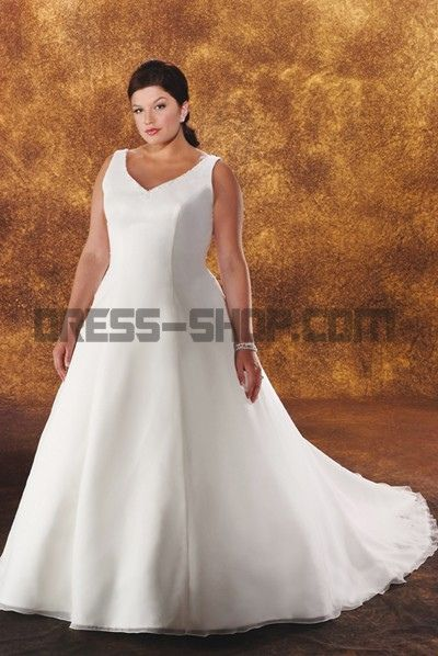 With innovative, glamorous designs, this chiffon plus size wedding Dress redefines wedding dresses with fresh trends.  www.dress-shop.com/sweep-train-beaded-vneck-white-chiffon...     2013 wedding dresses
