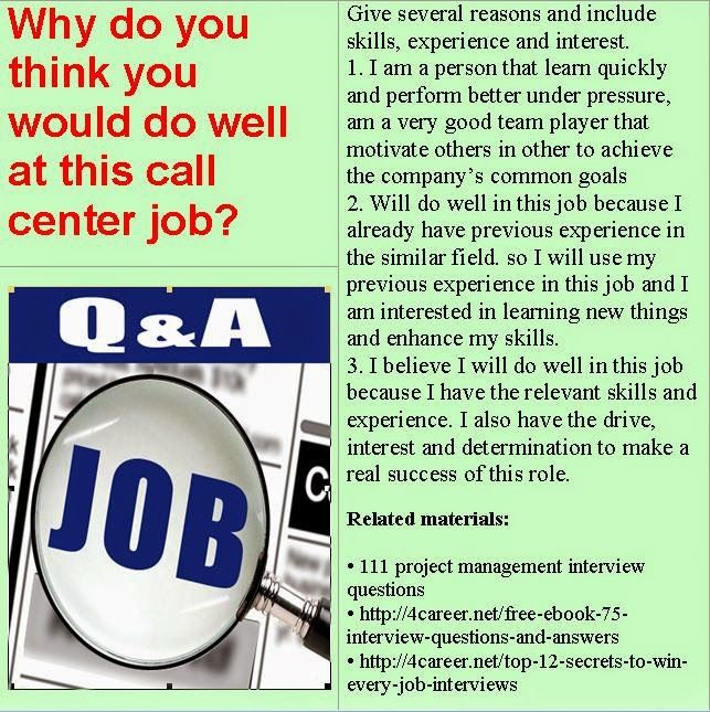 Related materials 51 call center interview questions Ebook