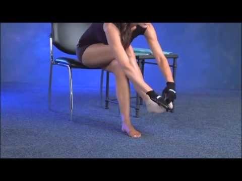 2a0b8384c4e How to Put On Juzo Compression Stockings - YouTube