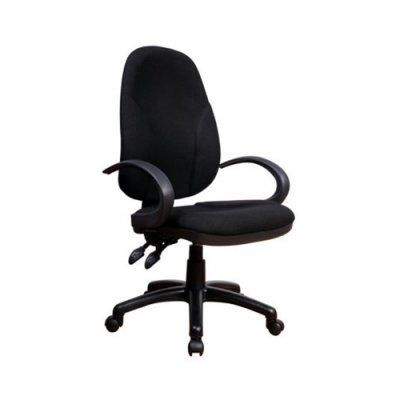 Chintaly Adjustable Fabric Back and Seat Office Chair - 4916-CCH-BLK