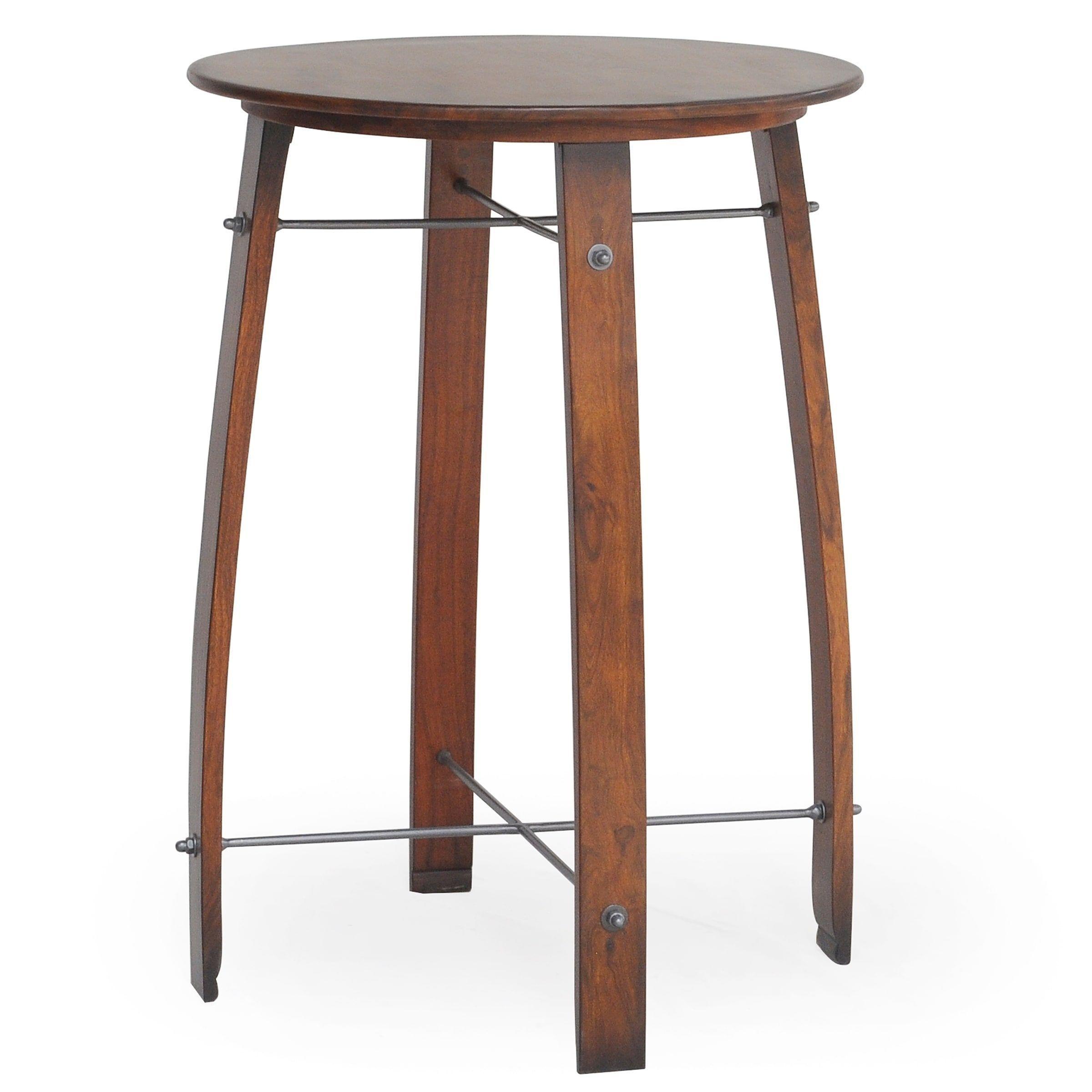 Cordelia Barrel Inch Round Pub Bar Table Chestnut Chestnut - 26 inch round coffee table