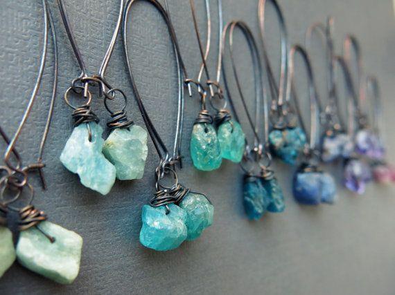 Raw Gemstone Earrings Boho Earrings Raw Crystal Earrings Etsy Raw Crystal Jewelry Dangle Earrings Boho Raw Stone Earring