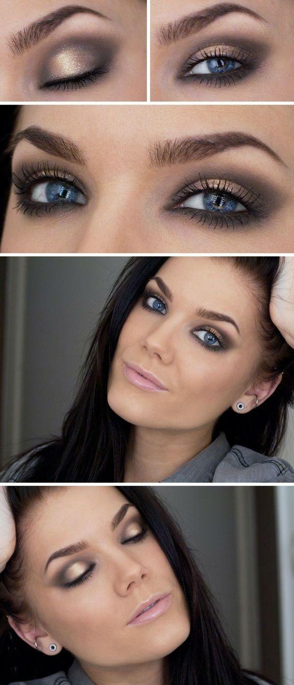 Makeup Smokey Eyes Für Blaue Augen Mode Hochzeit Pinterest