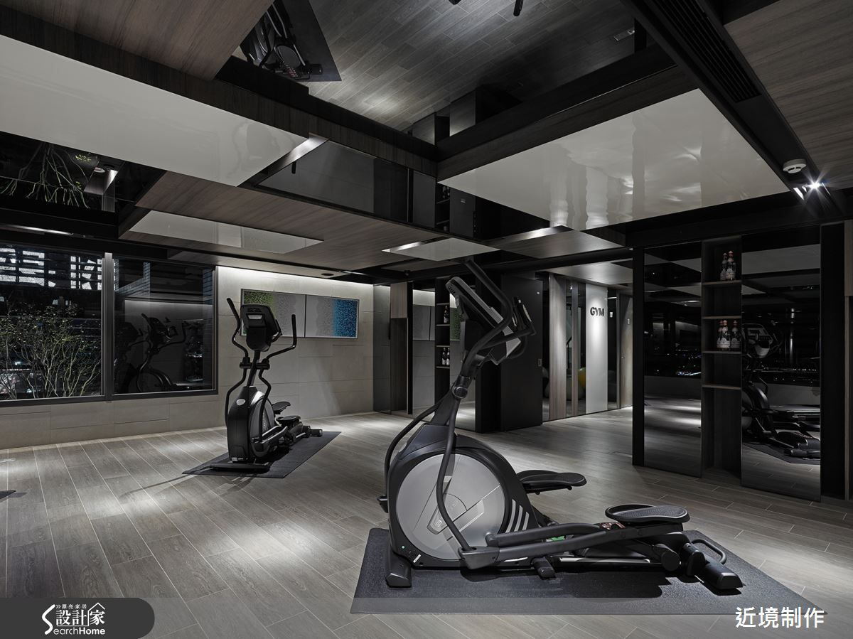 Fitness private ressidence at home gym room