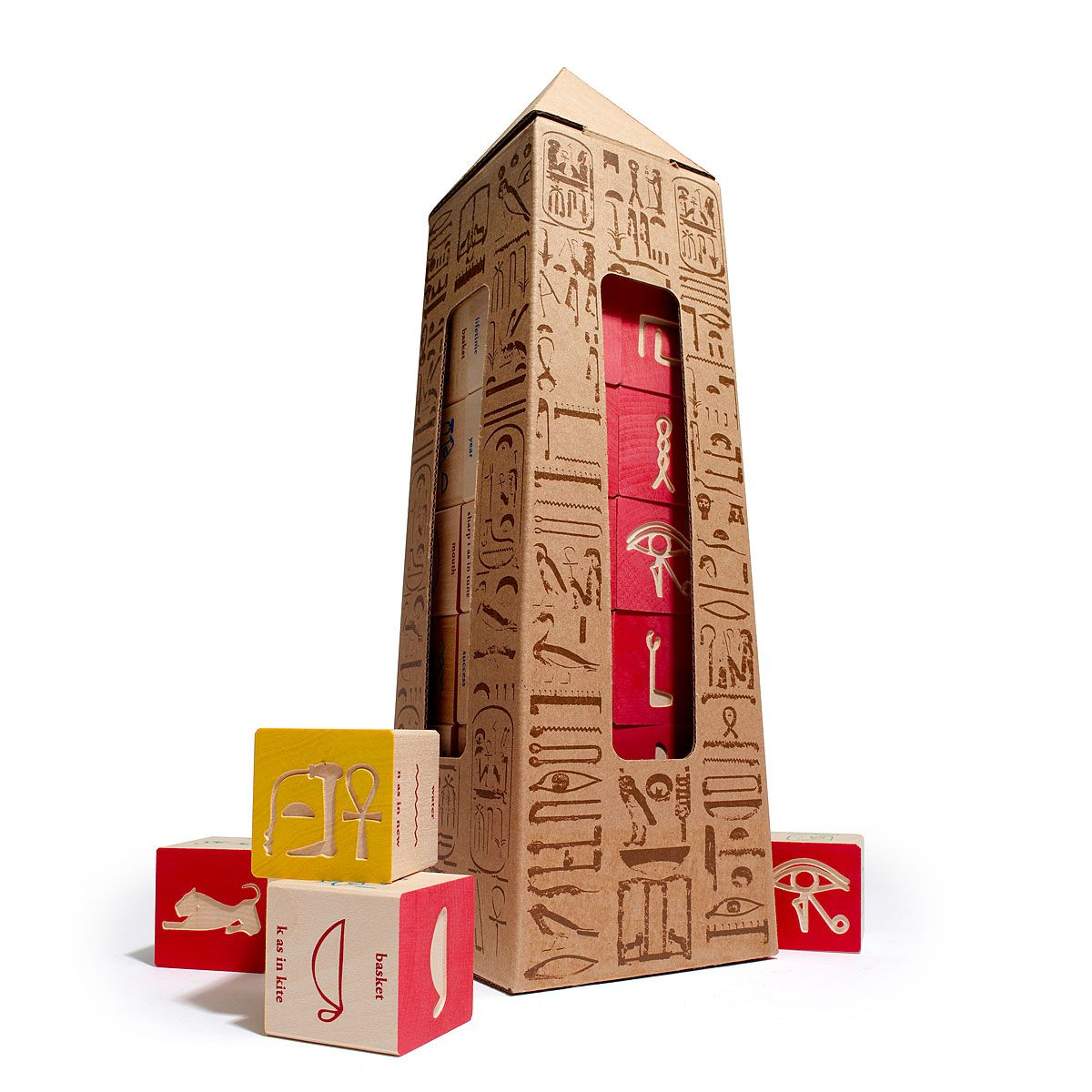 Egyptian hieroglyphic blocks egyptian wooden blocks and language - Geheime deco ...