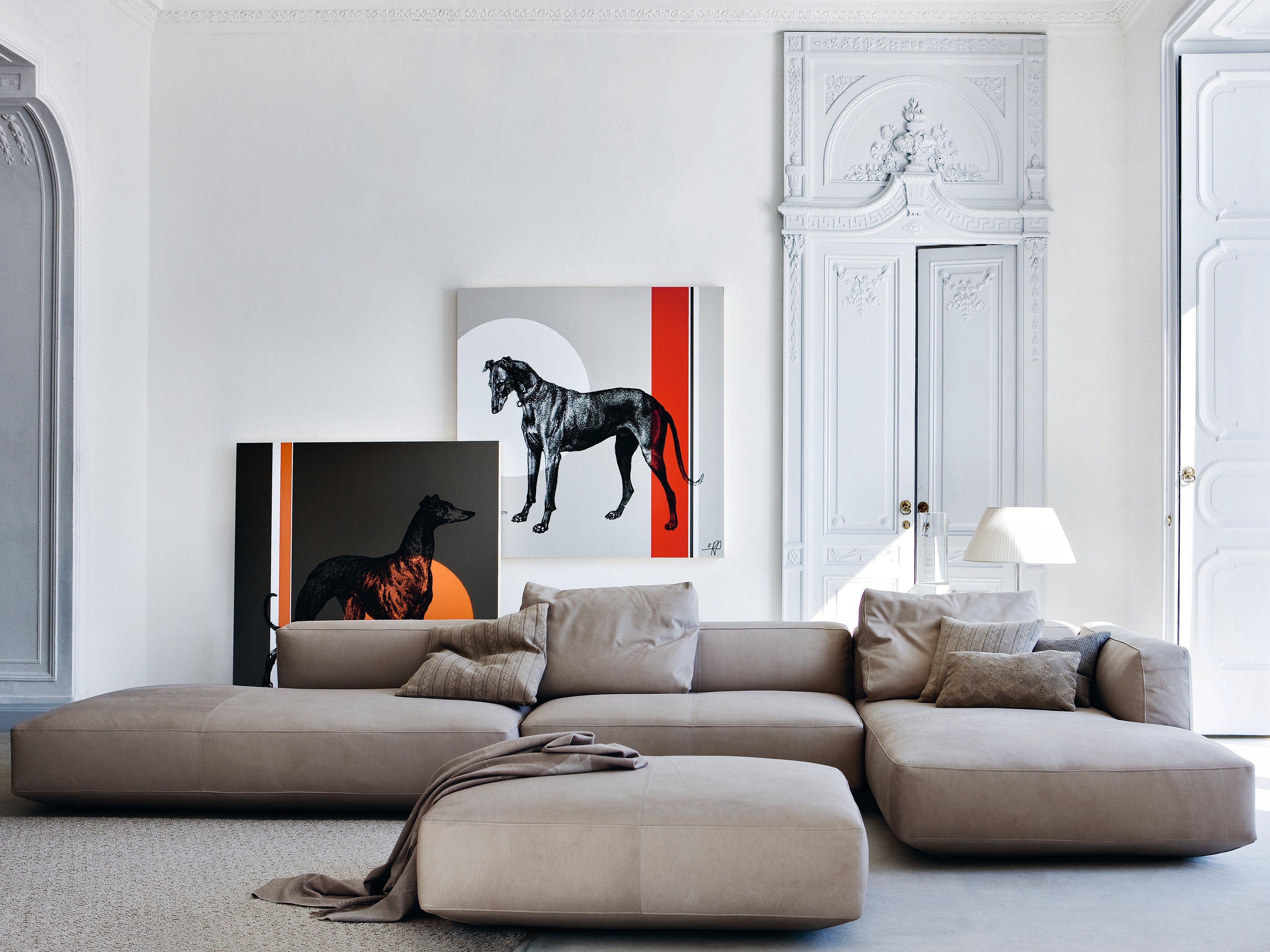 Sectional upholstered sofa PIANOALTO by Zanotta | design Ludovica ...