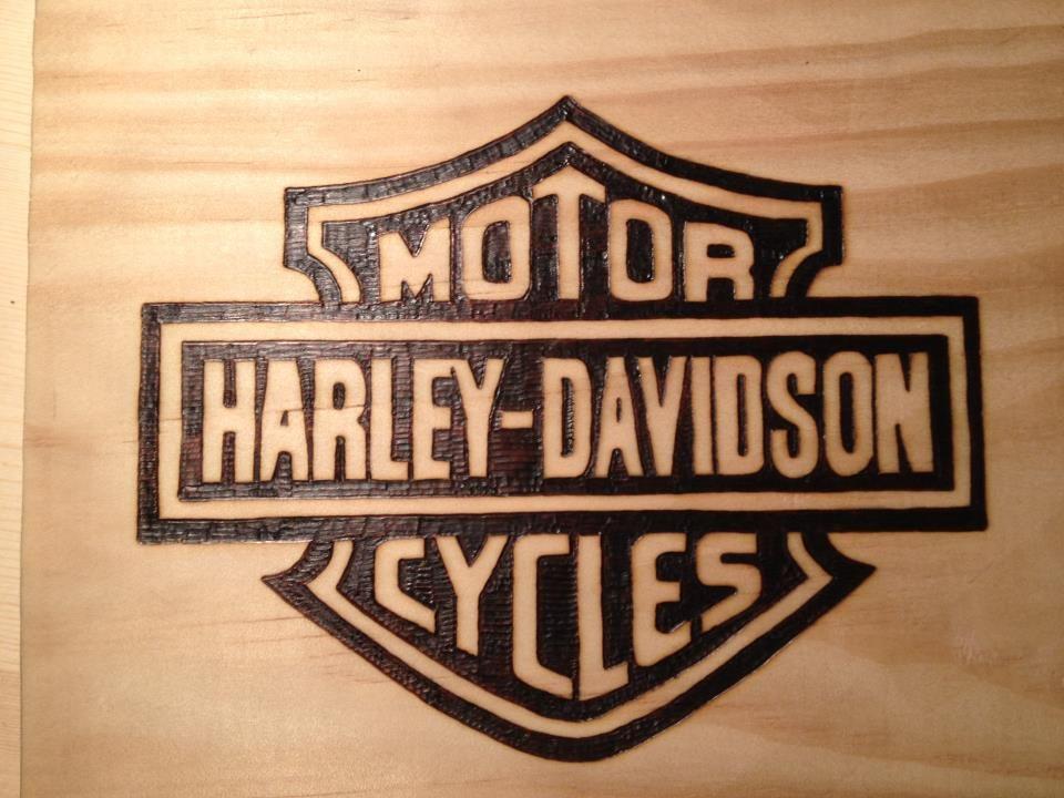 Harley Emblem I Woodburned For My Mom Wood Burning