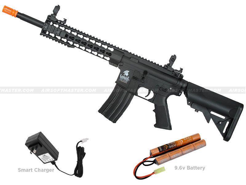 LANCER TACTICAL GEN 2 M4 KEYMOD AEG AUTOMATIC ELECTRIC METAL AIRSOFT RIFLE GUN