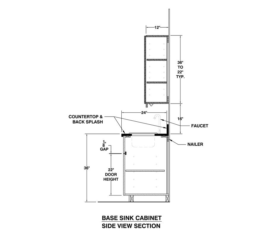 Kitchen Window Drawing: TYPICAL MILLWORK SECTIONS!- FREE DWG HELPFUL FREE DOWNLOAD