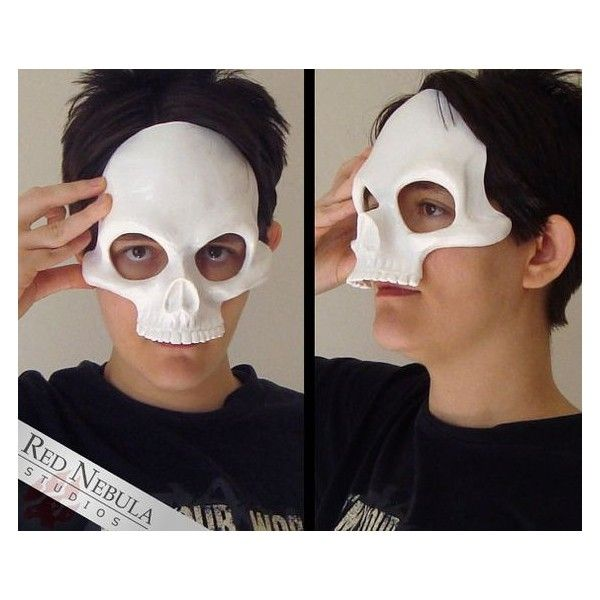 Skull Mask with Bone Handle Halloween Fancy Dress Eye Mask Prop