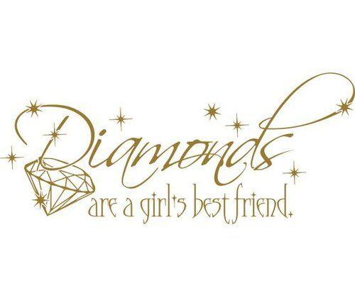 Wandtattoo Diamonds are a girls best friend East Urban Home Farbe: Kupfer, Größe: 117 cm B x 50 cm T