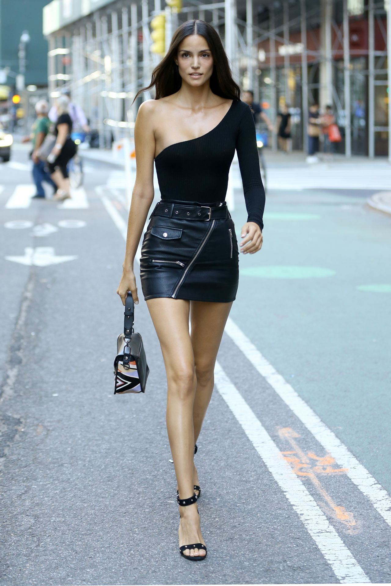 Fashion, Black Leather Skirts