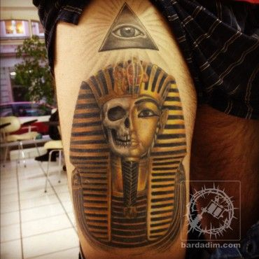 Pharaoh Skull Tattoo Skullspiration Com Skull Designs Art Fashion And More Pharaoh Tattoo Egyptian Tattoo King Tut Tattoo