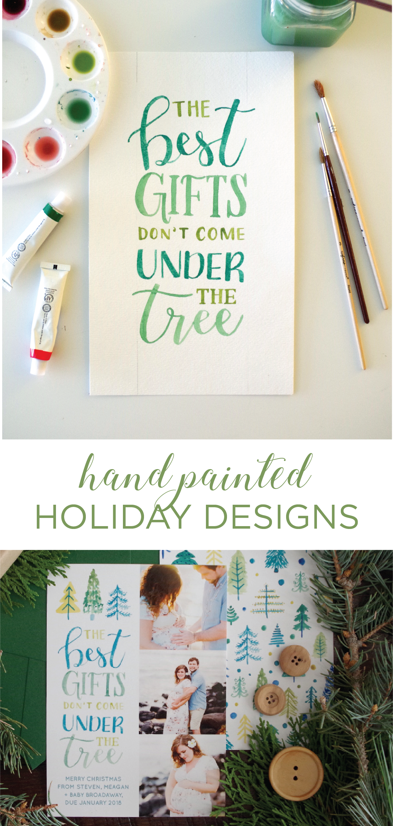 """""""The Best Gifts Don't Come Under the Tree"""" - Photo Christmas Cards perfect for maternit… 