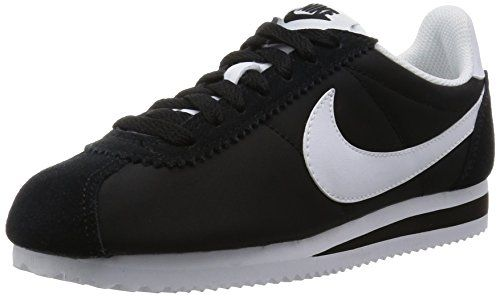 check out dcb0e 92e98 Nike Wmns Classic Cortez Nylon, Zapatillas de Running para Mujer, Blanco  (Blanco (Black White)), 38.5 EU   Classic cortez, Casual shoes and Nike  classic ...