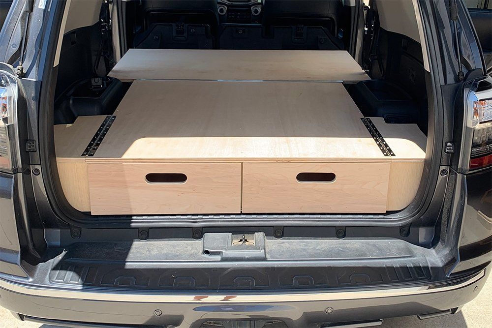 Diy Drawer System Plans For The 5th Gen 4runner Just Build Your Own In 2020 Truck Bed Storage Diy Drawers Wood Truck Bedding