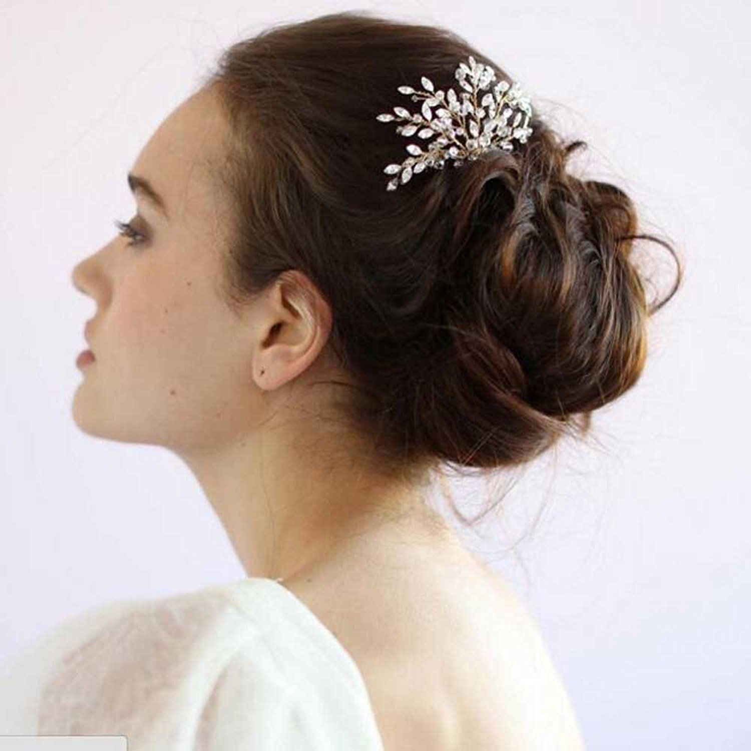 missgrace womens wedding hair combs - bridal hair accessories head