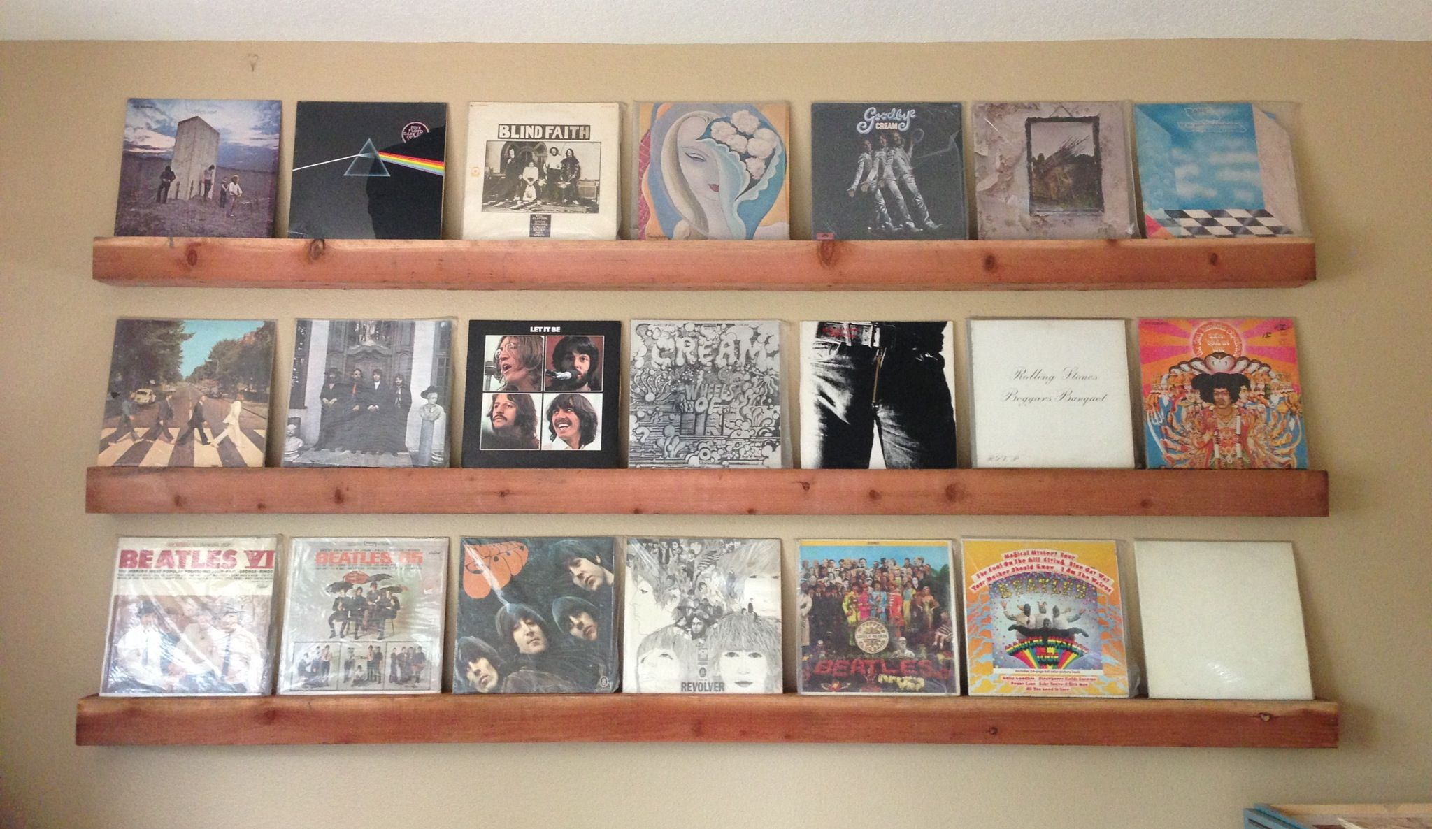 Record album display - simple floating shelf design by my ...