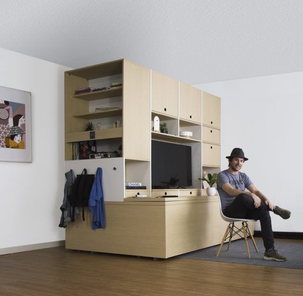 A super space saving solution for small apartments interior designs