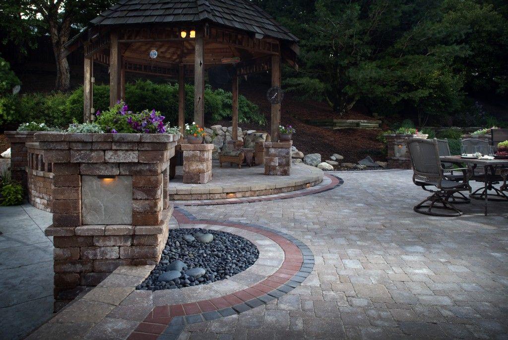 adding accent colors paver design ideas modeles de paver dalles patio pave