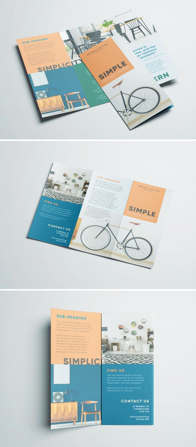 Free Brochure Template Simple Design Indesign