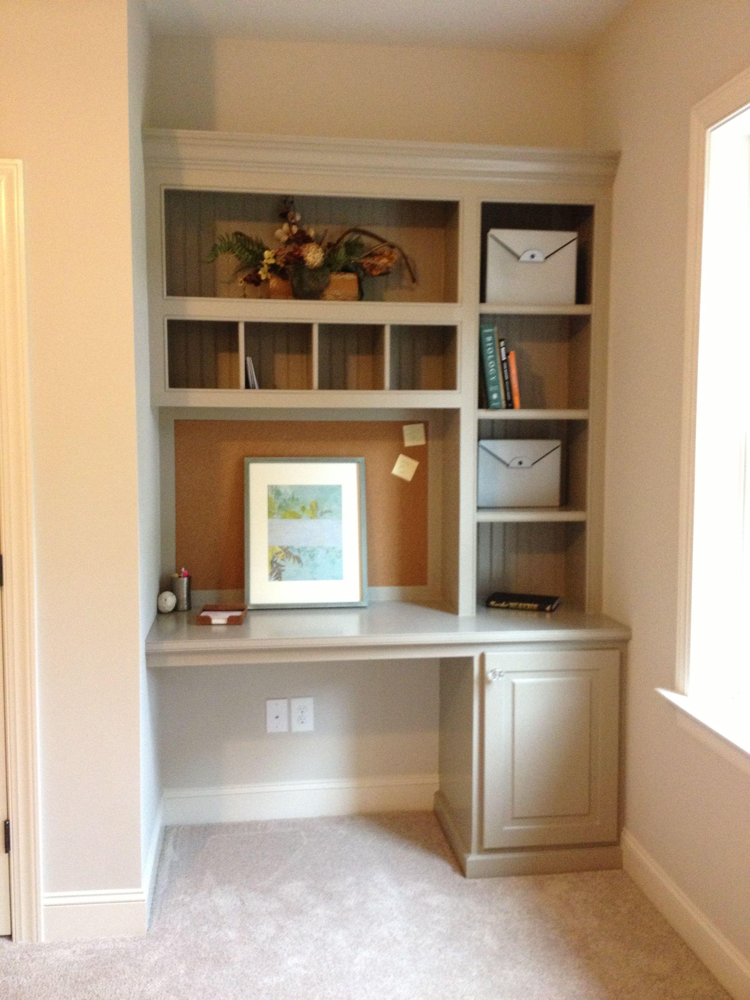 Built In Shelving With Images Home Office Design Bookshelf Desk Bedroom Desk