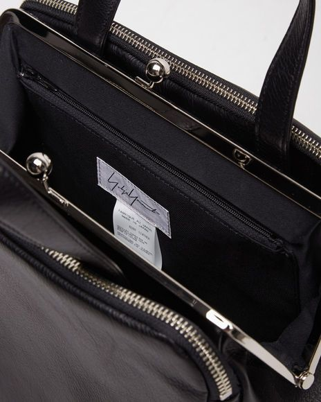 Paneled Clasp Bag - One Size   Navy 5f2e5a31ff0a0