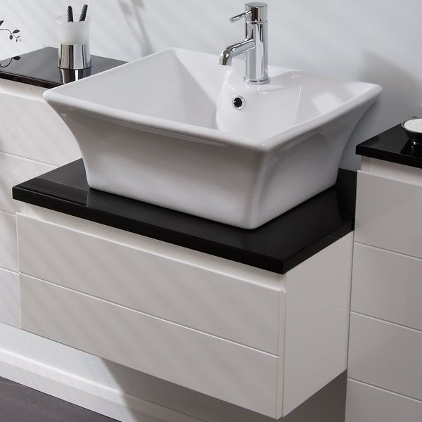High Quality Imperial 600 Wall Mounted Basin Vanity Unit With Basin Mixer Tap. Countertop  ...