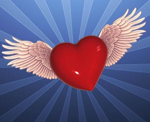 Imagen Bonita De Un Corazon Con Alas Love Pinterest Love