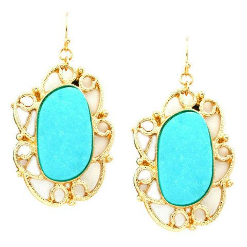 Pree Brulee - Azure Druzy Earrings