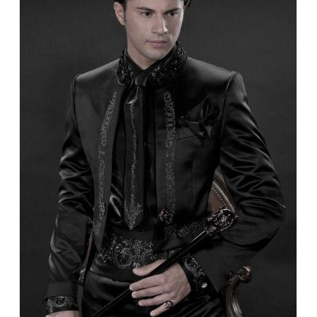 Black satin tailcoat