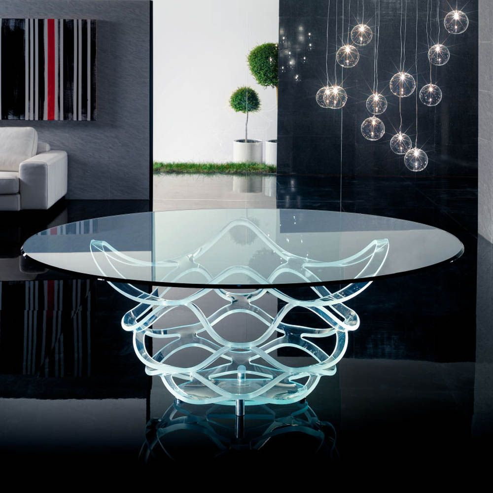Neolitico 72 Vetro Ellittico Dining Table Italian Furniture Modern Glass Table Luxury Italian Furniture [ 1000 x 1000 Pixel ]