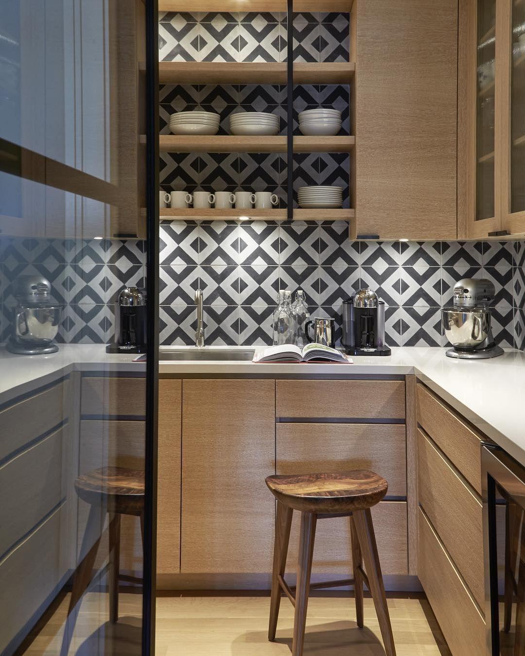 Splashback inspiration, grey and white geometric tiles - Found on ...