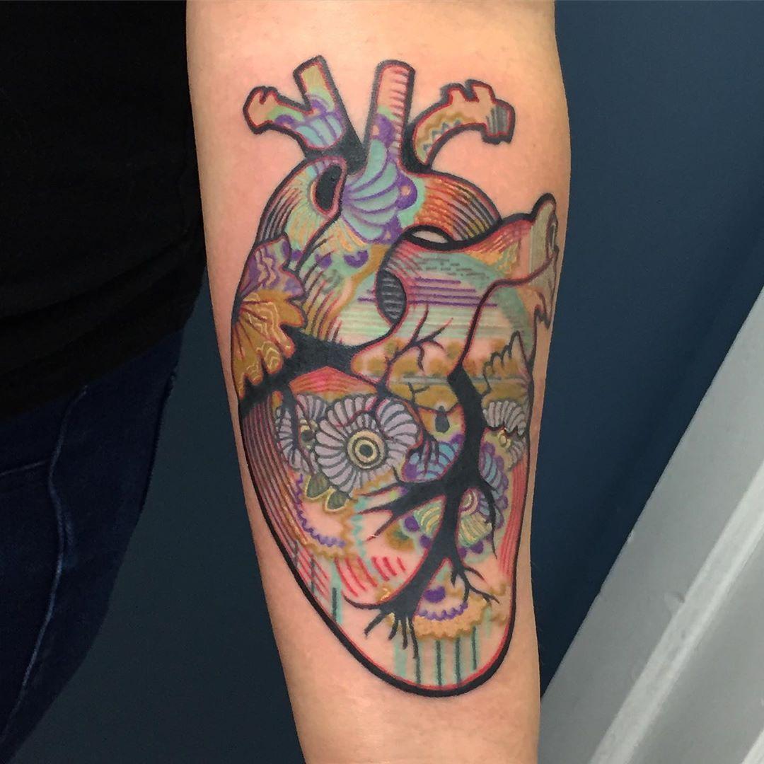 (Funky) Heart on her sleeve ️ Funky, Tattoos, Instagram