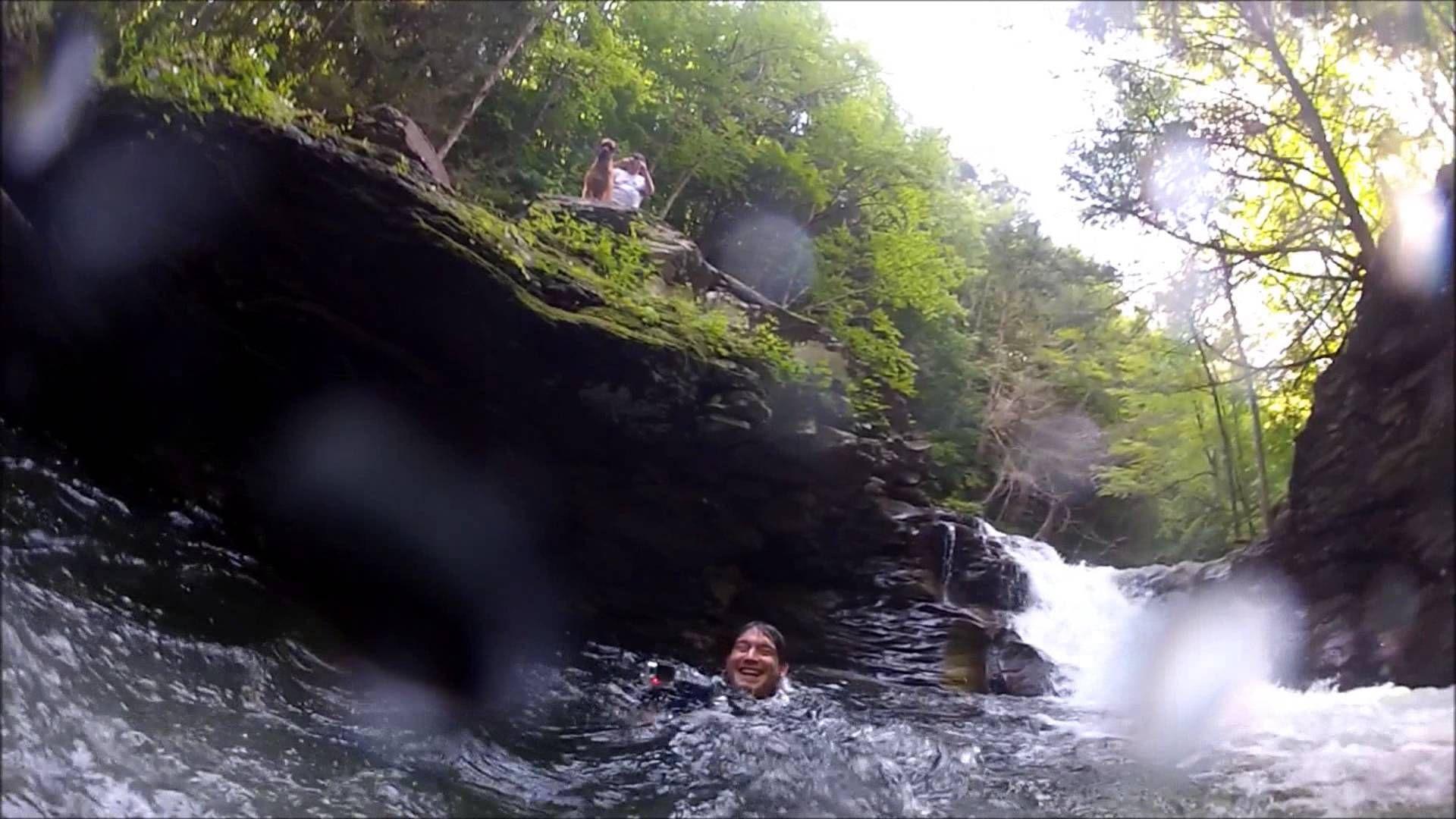 Secret Swimming Hole and Waterfall (Blue Hole - Dunbar, PA