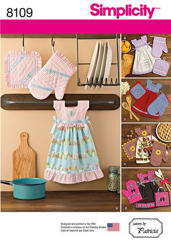 Pattern 8109 Towel Dresses, Pot Holders and Oven Mitts | SIMPLICITY ...