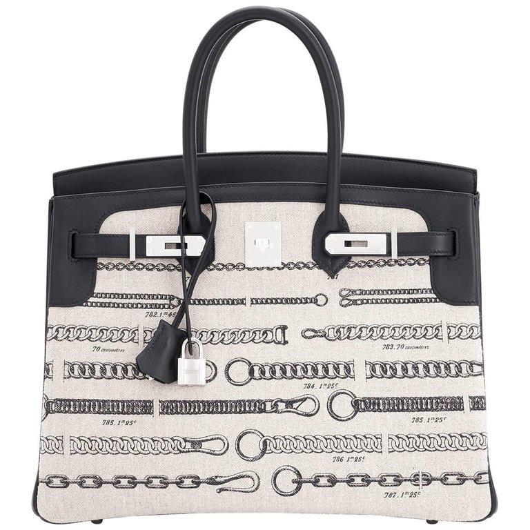 7ba6b36b1a Hermès - Birkin 35cm Limited Edition De Camp Dechainee Toile Swift Chevre  Birkin Bag ( 27