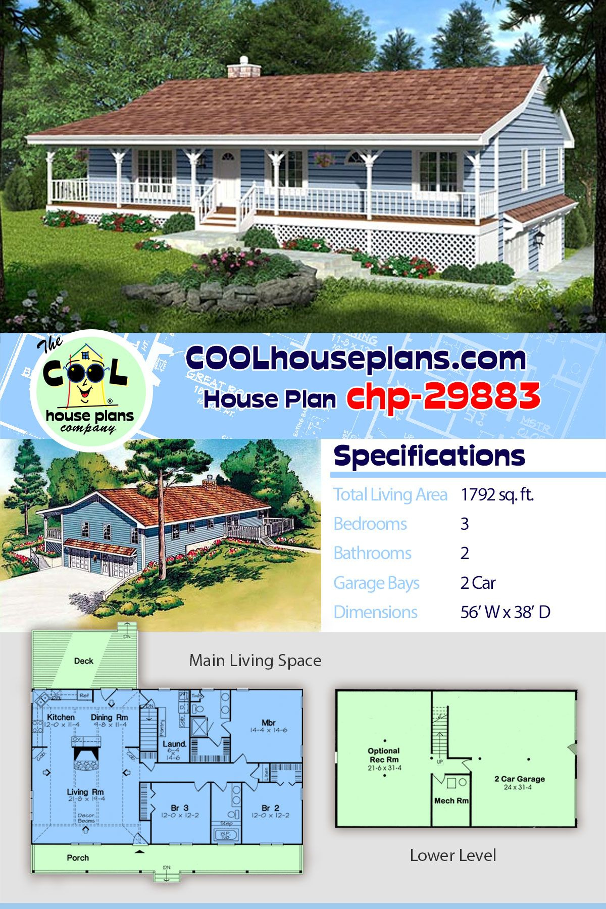 This economical 3-bedroom 2-bathroom ranch house plan can ... on one-bedroom cottage home plans, 5 bed home plans, new country home plans, trailer home plans, hudson home plans, classic home plans, white home plans, warehouse home plans, survival home plans, handicap home plans, standard home plans, back split home plans, cargo home plans, bristol home plans, three story home plans, 28 x 40 home plans, v-shaped home plans, franklin home plans, mercury home plans, sears home plans,