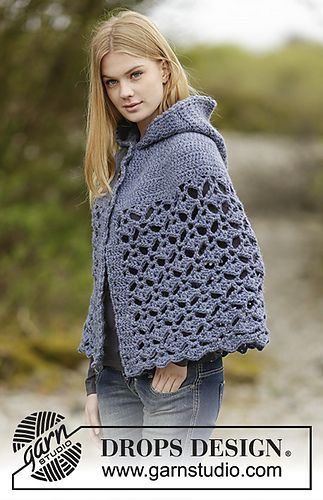 Letsjustgethooking Free Pattern Poncho With Hood In Fan Pattern