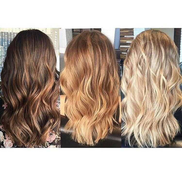 Stages Of Blonde Dyed Blonde Hair
